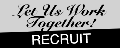 Let Us Work Together RECRUIT